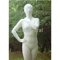 Lycra Spandex Zentai Suits Full Body Unisex Adult Size White A001