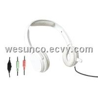 Multi-Media Headset,PC headset,wired headset(WS-6210White)