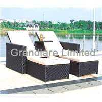 Outdoor PE wicker bench GHY090