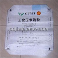 PP woven pasted square bottom valve bag for corn starch