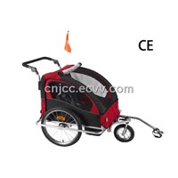 Red and Black Baby Bike Trailer