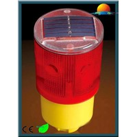 Red solar signal light