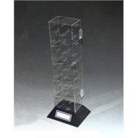 Transparent Acrylic Display Holders Showcases Lockable Glass Cabinets