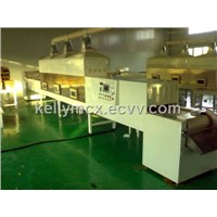 Tunnel type microwave food sterilization machine