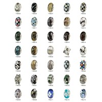 Wholesale 925 sterling silver european murano lampwork glass beads