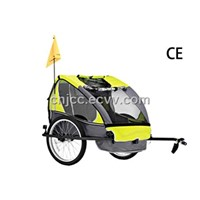 Yellow Bicycle Trailer for Children