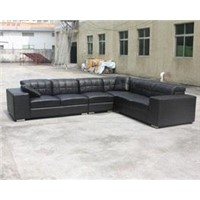 cow leather sectional sofa (#9304)