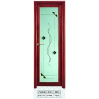 high quality red walnut interior door with double-sided glass made of aluminum alloy material