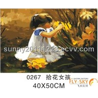 oil painting,new product 40*50cm modern cartoon oil painting