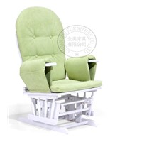 rubber wood glider chair with ottoman
