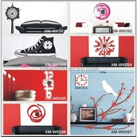 wall decorative sticker clock / fashion house wall clock / clock