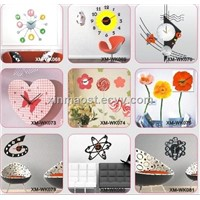 wall sticker clock / home decorative wall clock sticker