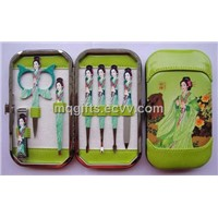 Manicure Set with Beautiful Girl Printing