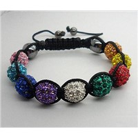 10mm Shamballa Bracelet With Rose Disco Ball 2008010