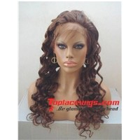 26 inch big wave Chinese remy human hair full lace wigs