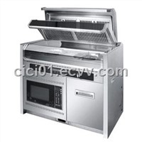 5in1 integration stove(include cook stove, range hood,disinfecting cabinet)