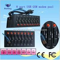 8 ports GPRS GSM modem pool for bulk sms mc55i