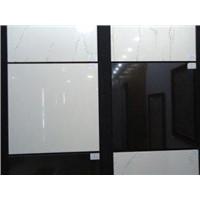 Acid - Resistant, Heat Insulation Super White Black Polished Ceramic Tile Nano