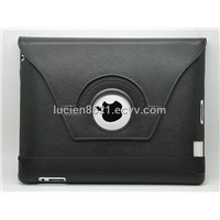 Black pu leather case cover for ipad2