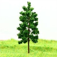D7027 Train Layout Miniature Model Trees Avenue Deep Green Metal Wire Tree 7cm