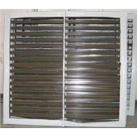 Elegant style electrophoresis surface treatment white, champagne aluminium louver windows