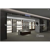 MDF display rack for shoes and bag shop