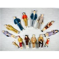 P25-14 outdoor 1:25 Architectural Scale Model People Painted Figures 7cm