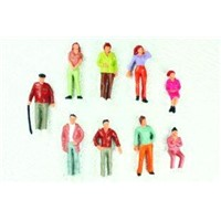 P43-10 outdoor 1:43 Architectural Scale Model People Painted Figures 4.8cm