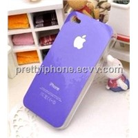 Plastic case for iPhone 4S 4G-Purple