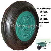 Pneumatic rubber wheel for wheel barrow