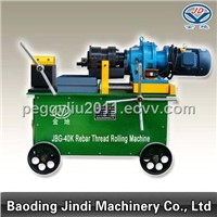 Reinforcing bar threading machine
