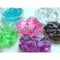 Square decotative crystal water beads