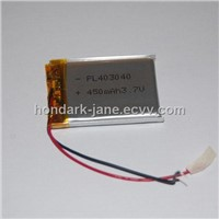 Super Quality Li-ion Polymer Battery 3.7V 450mah PL403040