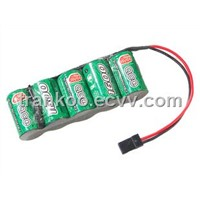 2/3A 6VDC 1600mAh NI-MH Battery Pack Receiver Power / Power Supply