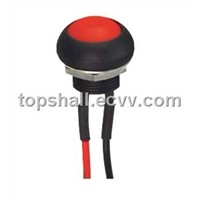 Total plastic illuminated IP68 waterproof reset momentary contact switch