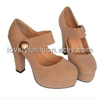VIVI spring super sweet round toe high-heeled shoes Z0181