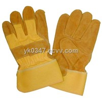 Working gloves(Cow split leather working gloves )