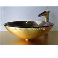 Bathroom Sinks Wtih Golden Faucet