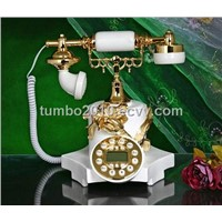 ployresin resin corded and cordless antique telephone christmas gift OEM