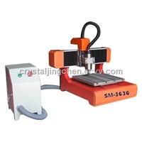 portable CNC Router Advertising machine for aluminum (360x360mm)