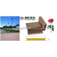 Wood Plastic Composite (WPC) Decking Board (Wood Board)