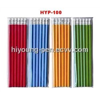 painted pencil HB w/eraser 6pcs set (HYP-100)