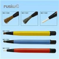 3pc Scratch Brush Set;Nylon, Brass, Metal