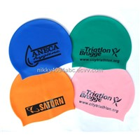 Customized printed silicone swim cap