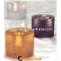 Eco-friendly Polyresin Candle Holders with Different Colors