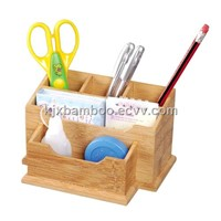 Eco-friendly bamboo desktop organizer