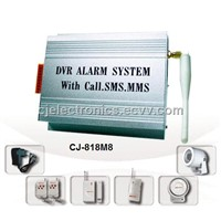 GSM Home Security System - CJ-818M8 DVR Alarm System With MMS & SMS Function