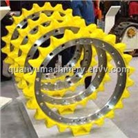Heavy equipment undercarriage parts sprocket