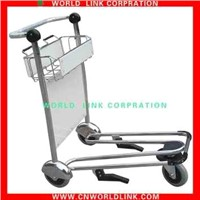 High strength aluminum airport hand baggage trolley