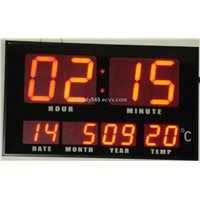 LED digital  clock with time display